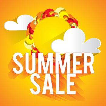 Colorful summer sale illustration.