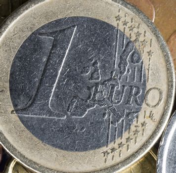 One Euro Coin Close Up