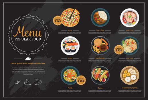 popular food menu
