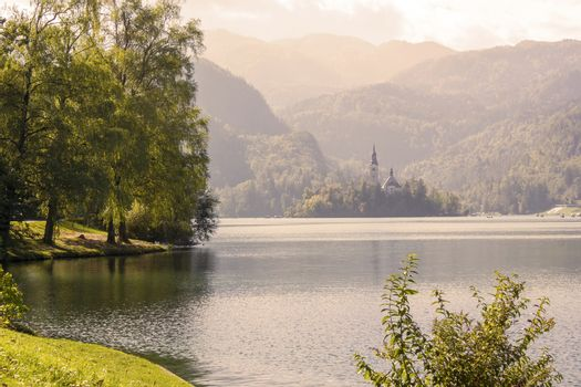 view of Bled Lake, Slovenia, Europe