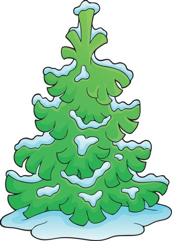 Coniferous tree theme image 1