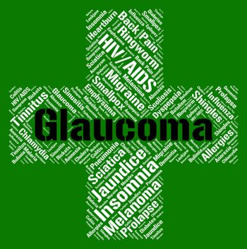Glaucoma Word Shows Eye Disorders And Ailment