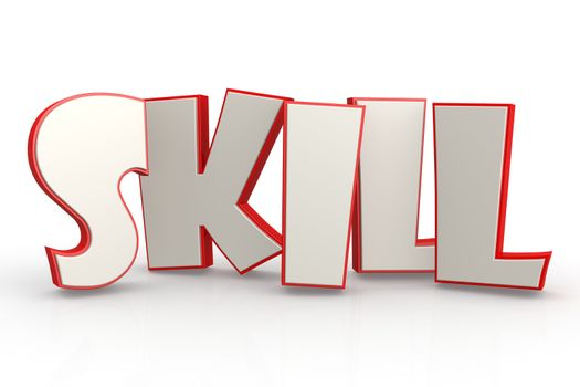 Skill word on white background