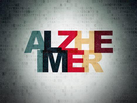 Health concept: Alzheimer on Digital Paper background