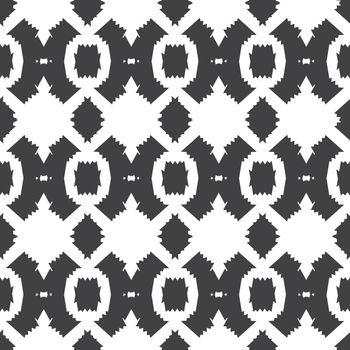 Vector Tribal Black White Textile Seamless Pattern graphic design