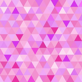 Seamless pattern pink triangle geometry mosaic tile