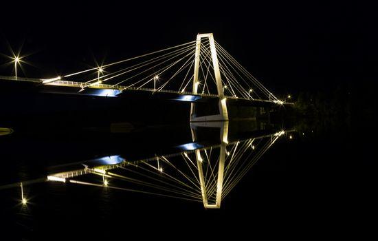 Cable Bridge in Umeå, Sweden