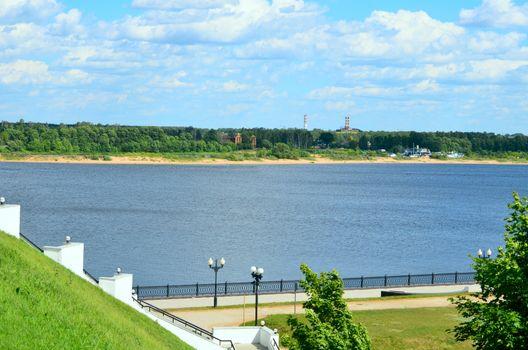 Volga River Embankment in Yaroslavl