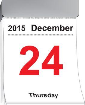 Tear off calendar December 24, 2015