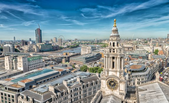 London skyline from St Paul Cathedral