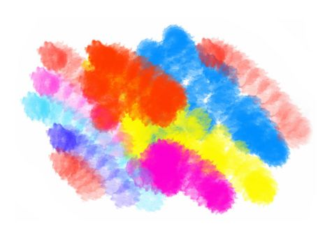 Abstract color blots texture for design
