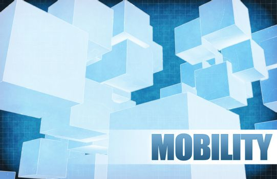 Mobility on Futuristic Abstract