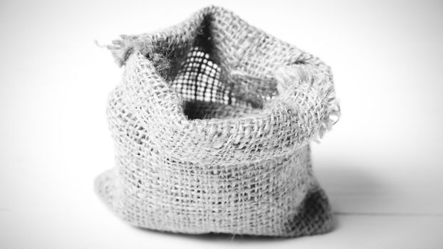 sack bag black and white tone