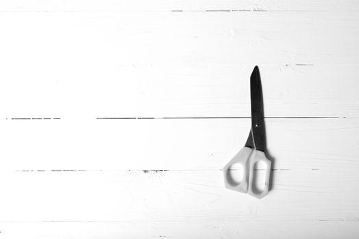 scissors black and white tone color style