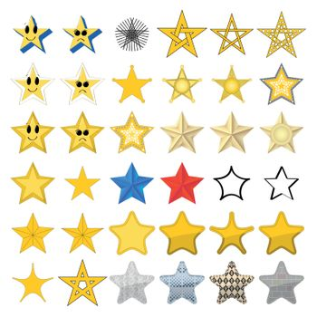 Collection of different stars