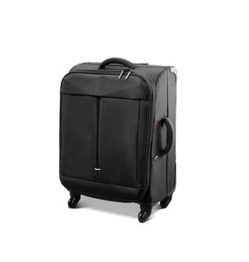 Modern convenience suitcase on casters