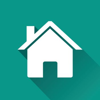illustration of home flat design icon isolated