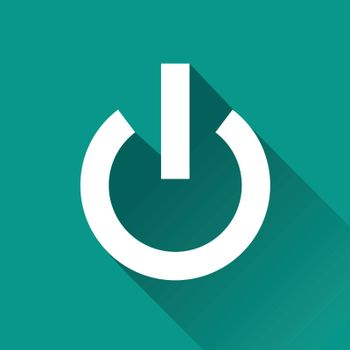 illustration of start flat design icon isolated