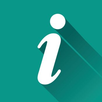 illustration of informations flat design icon isolated