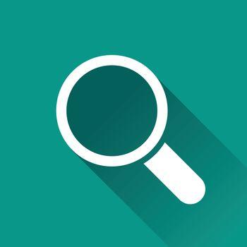 illustration of magnifying flat design icon isolated