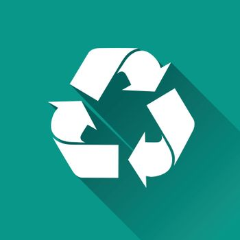 illustration of recycle flat design icon isolated