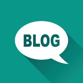 illustration of blog flat design icon isolated