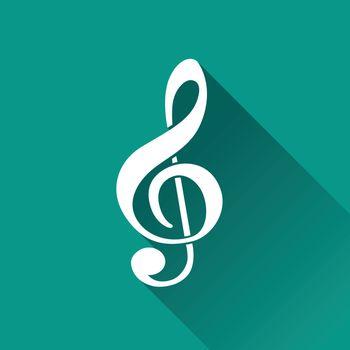 illustration of music flat design icon isolated