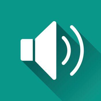 illustration of sound flat design icon isolated