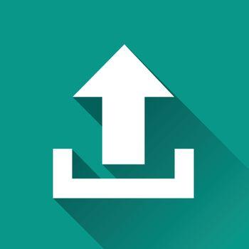 illustration of upload flat design icon isolated