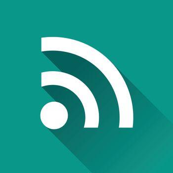 illustration of wifi signal flat design icon