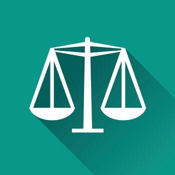 illustration of equality flat design icon isolated