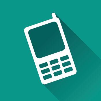 illustration of mobile phone flat design icon