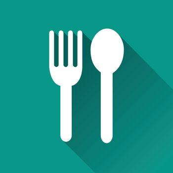 illustration of restaurant flat design icon isolated