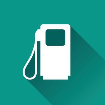 illustration of fuel pump flat design icon