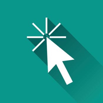 illustration of mouse pointer flat design icon