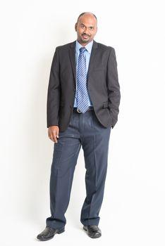 Full body mature Indian businessman