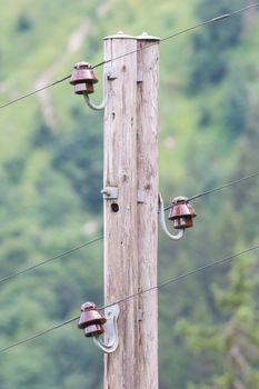 Old electric pillar