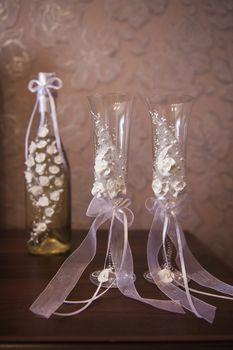 Two wedding glasses