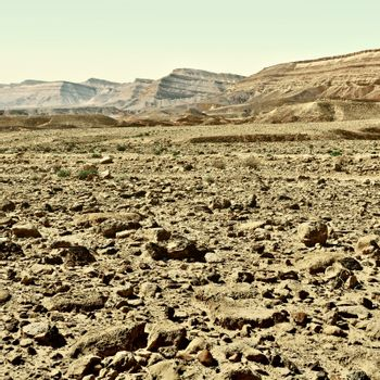Crater in Negev