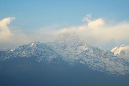 view of Annapurna mountain range ,Nepal