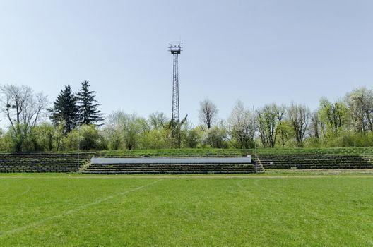 Desolate stadium in small town