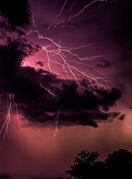 Lightning Over Florida, USA
