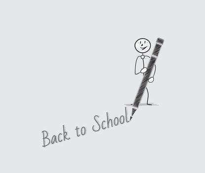 back to school with one person