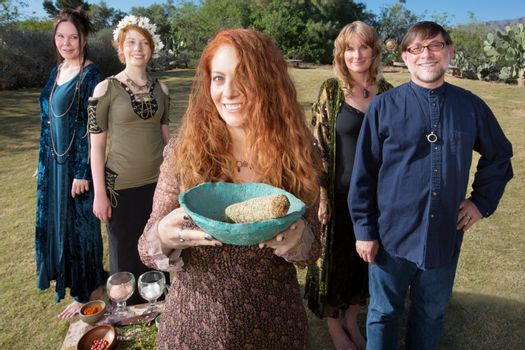Pagan Group with Sage Smudge