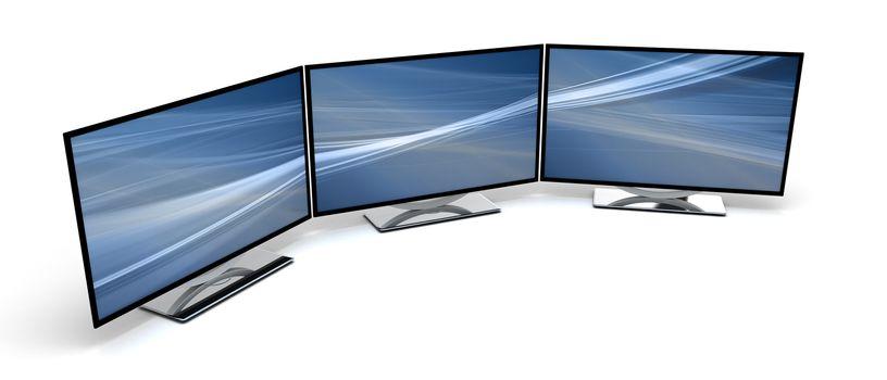Three HD Display