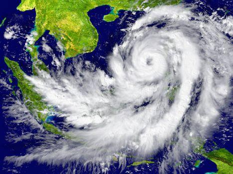 Hurricane near Southeast Asia