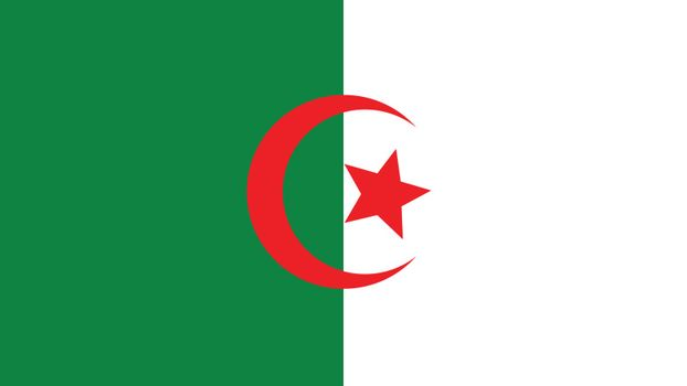 algeria Flag for Independence Day and infographic Vector illustration.