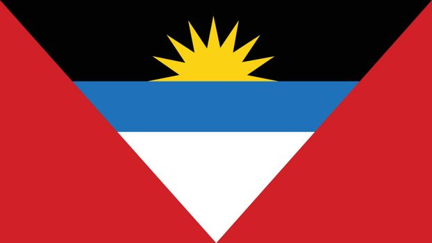 antigua and barbuda Flag for Independence Day and infographic Vector illustration.