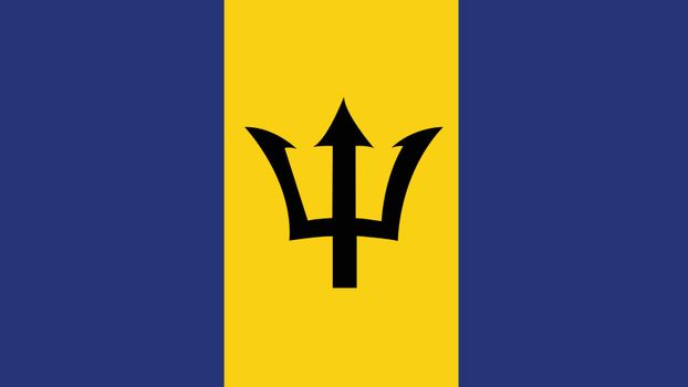 barbados Flag for Independence Day and infographic Vector illustration.