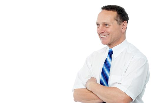 Confident male executive posing